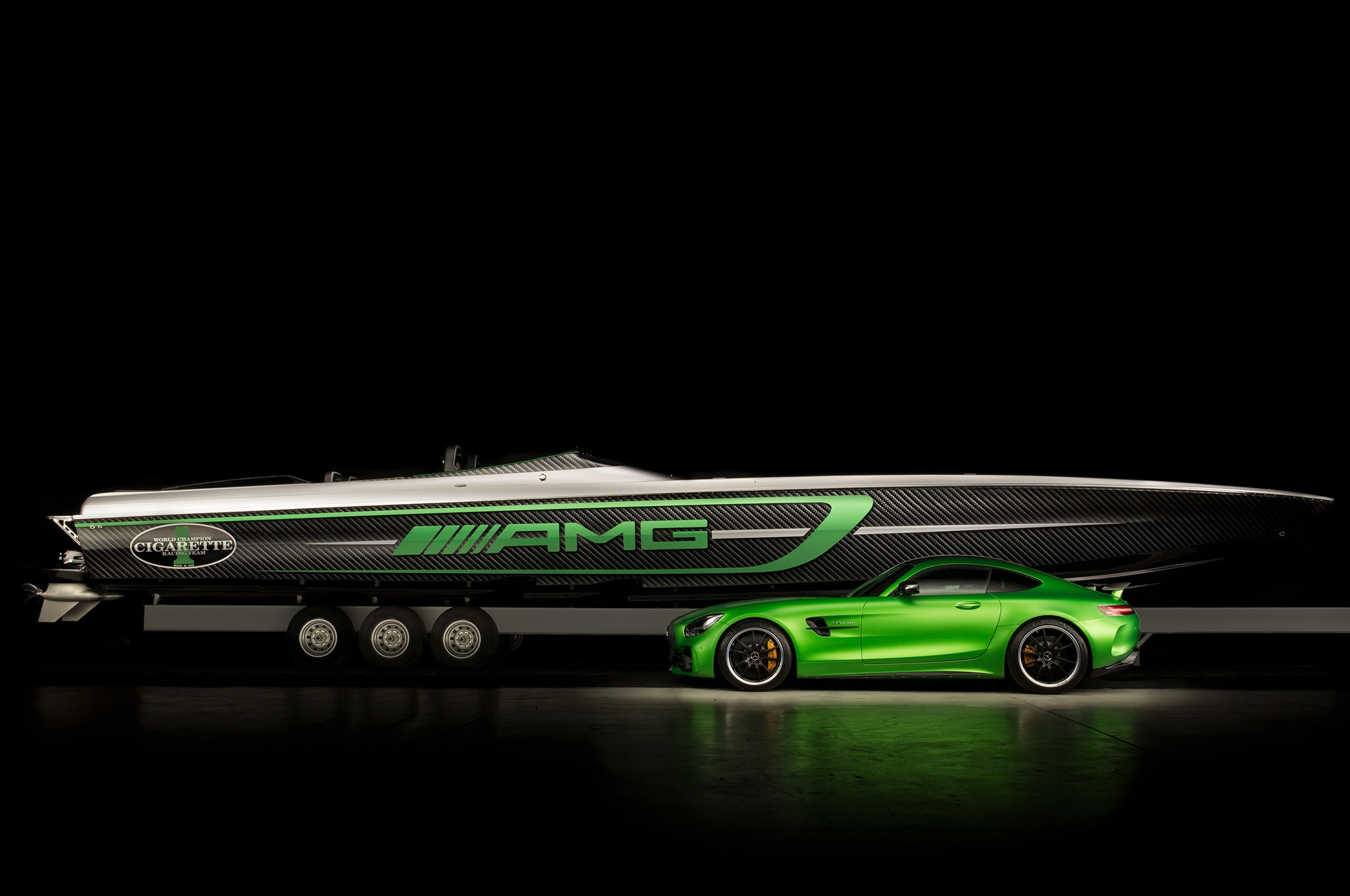 Mercedes AMG Cigarette Racing Car And Boat 2